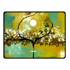 She Open s To The Moon Double Sided Fleece Blanket (small)
