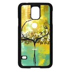 She Open s to the Moon Samsung Galaxy S5 Case (Black)