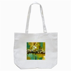 She Open s To The Moon Tote Bag (white)