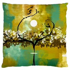 She Open s to the Moon Large Flano Cushion Cases (One Side)