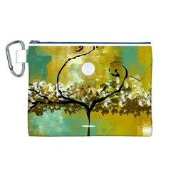 She Open s to the Moon Canvas Cosmetic Bag (L)