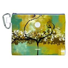 She Open s To The Moon Canvas Cosmetic Bag (xxl)