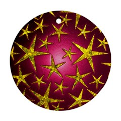 Star Burst Round Ornament (Two Sides)