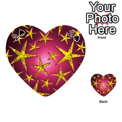 Star Burst Playing Cards 54 (heart)