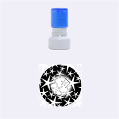 Star Burst Rubber Round Stamps (small)