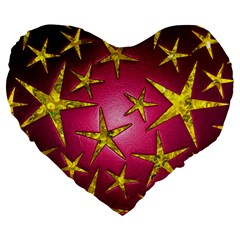 Star Burst Large 19  Premium Heart Shape Cushions