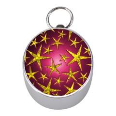 Star Burst Mini Silver Compasses