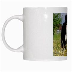 Border Collie Love W Picture White Mugs