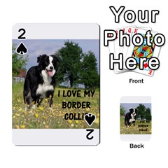 Border Collie Love W Picture Playing Cards 54 Designs