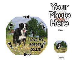 Border Collie Love W Picture Playing Cards 54 (Round)