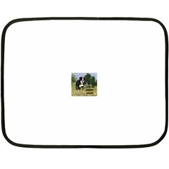 Border Collie Love W Picture Fleece Blanket (Mini)