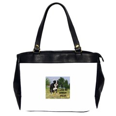 Border Collie Love W Picture Office Handbags (2 Sides)