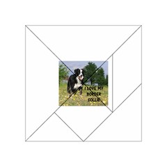 Border Collie Love W Picture Acrylic Tangram Puzzle (4  x 4 )