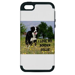 Border Collie Love W Picture Apple iPhone 5 Hardshell Case (PC+Silicone)