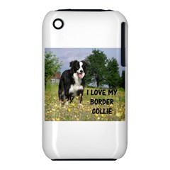 Border Collie Love W Picture Apple iPhone 3G/3GS Hardshell Case (PC+Silicone)