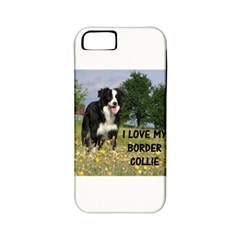 Border Collie Love W Picture Apple iPhone 5 Classic Hardshell Case (PC+Silicone)