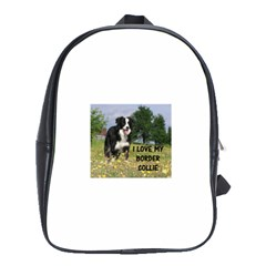 Border Collie Love W Picture School Bags (XL)