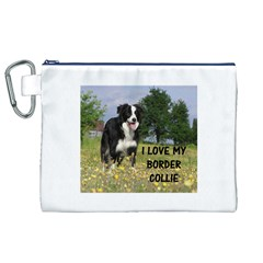 Border Collie Love W Picture Canvas Cosmetic Bag (XL)