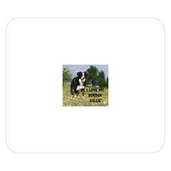 Border Collie Love W Picture Double Sided Flano Blanket (Small)