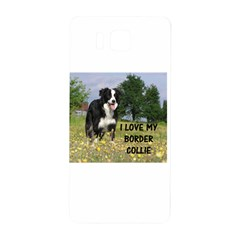 Border Collie Love W Picture Samsung Galaxy Alpha Hardshell Back Case