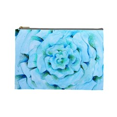 Blue Flower Cosmetic Bag (large)