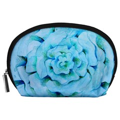 Blue Flower Accessory Pouches (Large)