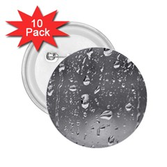 WATER DROPS 4 2.25  Buttons (10 pack)
