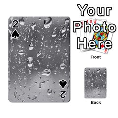 Water Drops 4 Playing Cards 54 Designs