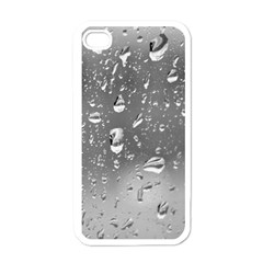 WATER DROPS 4 Apple iPhone 4 Case (White)