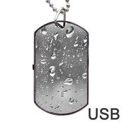 WATER DROPS 4 Dog Tag USB Flash (Two Sides)