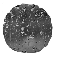 WATER DROPS 4 Large 18  Premium Round Cushions