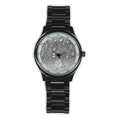 WATER DROPS 4 Stainless Steel Round Watches