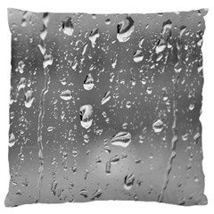 WATER DROPS 4 Large Flano Cushion Cases (One Side)