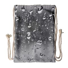 Water Drops 4 Drawstring Bag (large)