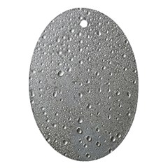 Water Drops 3 Ornament (Oval)