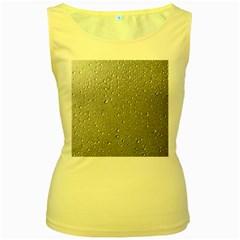 Water Drops 3 Women s Yellow Tank Tops