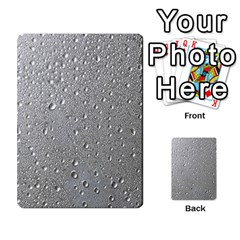 Water Drops 3 Multi Purpose Cards (rectangle)
