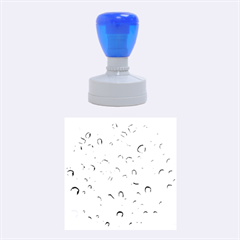 Water Drops 2 Rubber Round Stamps (medium)