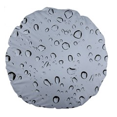 WATER DROPS 2 Large 18  Premium Round Cushions