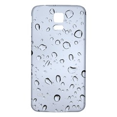 WATER DROPS 2 Samsung Galaxy S5 Back Case (White)