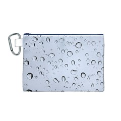 Water Drops 2 Canvas Cosmetic Bag (m)