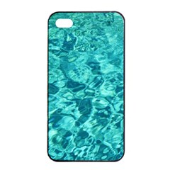 TURQUOISE WATER Apple iPhone 4/4s Seamless Case (Black)