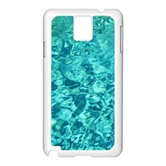 TURQUOISE WATER Samsung Galaxy Note 3 N9005 Case (White)