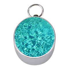 TURQUOISE WATER Mini Silver Compasses