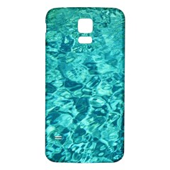 TURQUOISE WATER Samsung Galaxy S5 Back Case (White)
