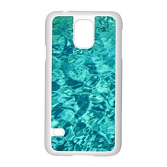 TURQUOISE WATER Samsung Galaxy S5 Case (White)