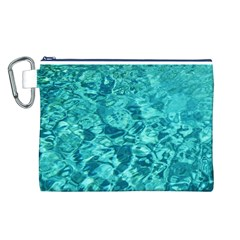 TURQUOISE WATER Canvas Cosmetic Bag (L)