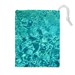 Turquoise Water Drawstring Pouches (extra Large)