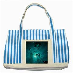 SUN-BUBBLES Striped Blue Tote Bag