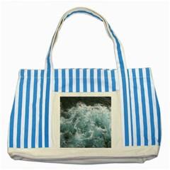 OCEAN WAVES Striped Blue Tote Bag